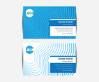 Abstract Contour Business Card