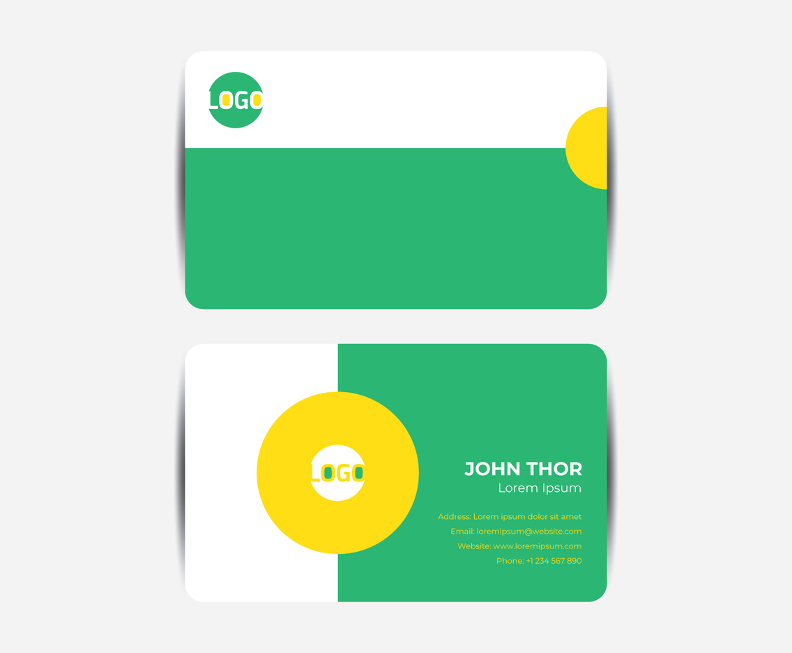 Minimalist Flat Business Card