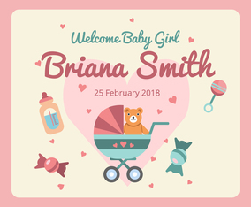 Baby Birth Announcement Vector