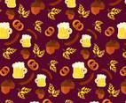 Bavarian Food Pattern Vector
