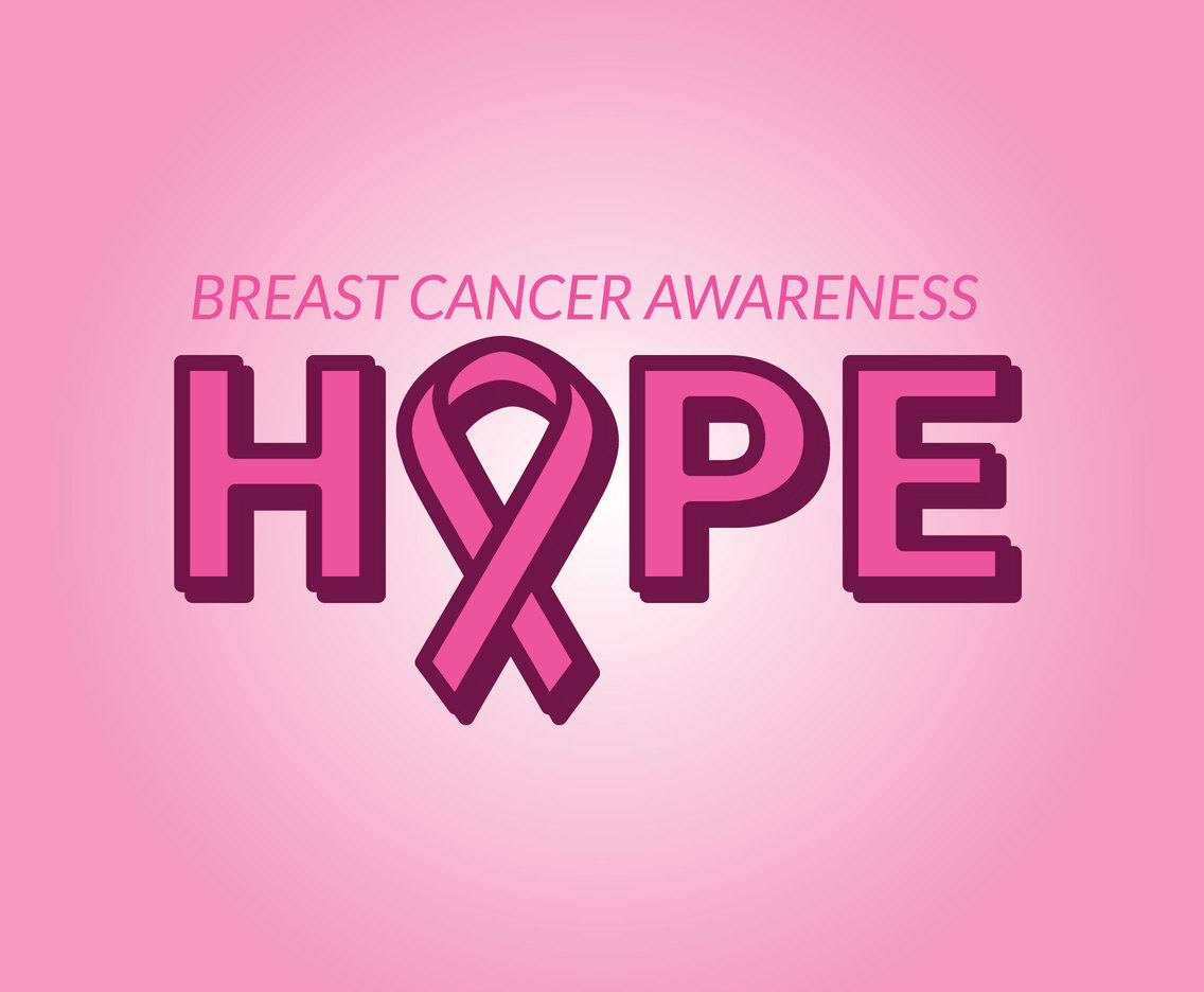 Hope Breast Cancer Awareness Vector