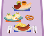 Bavarian Meals Vector
