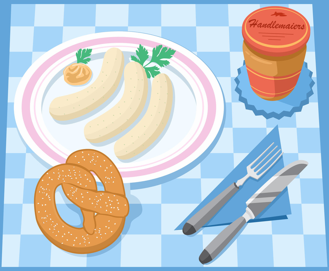 Bavarian Breakfast Vector