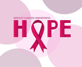 Hope Breast Cancer Ribbon Vector