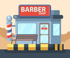 Barber Shop Front Vector