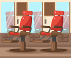 Barber Shop Chairs Vector