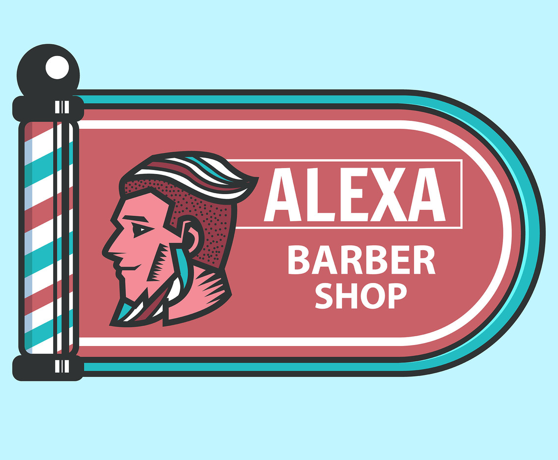 Barber Shop Signboard Vector