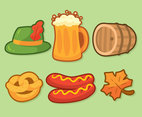 Oktoberfest Element On Green Vector