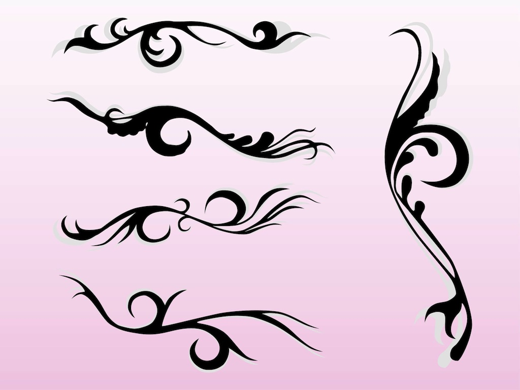 swirling flourishes vector art graphics freevector com rh freevector com free vector flourishes ornaments free vector ornament