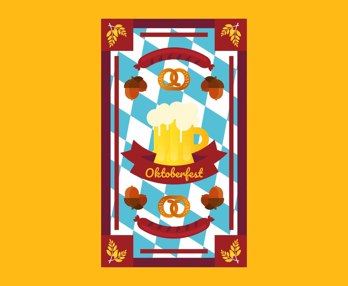 Oktoberfest Flyer Template Vector #2