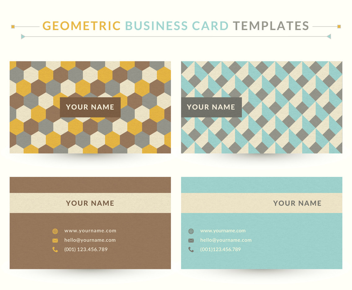 Geometric Business Card Vector Templates
