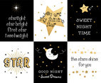 Cute Creative Card With Stars Vector