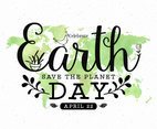 Earth Day Typographic Design Poster