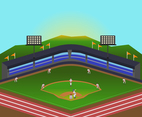Baseball Match Vector