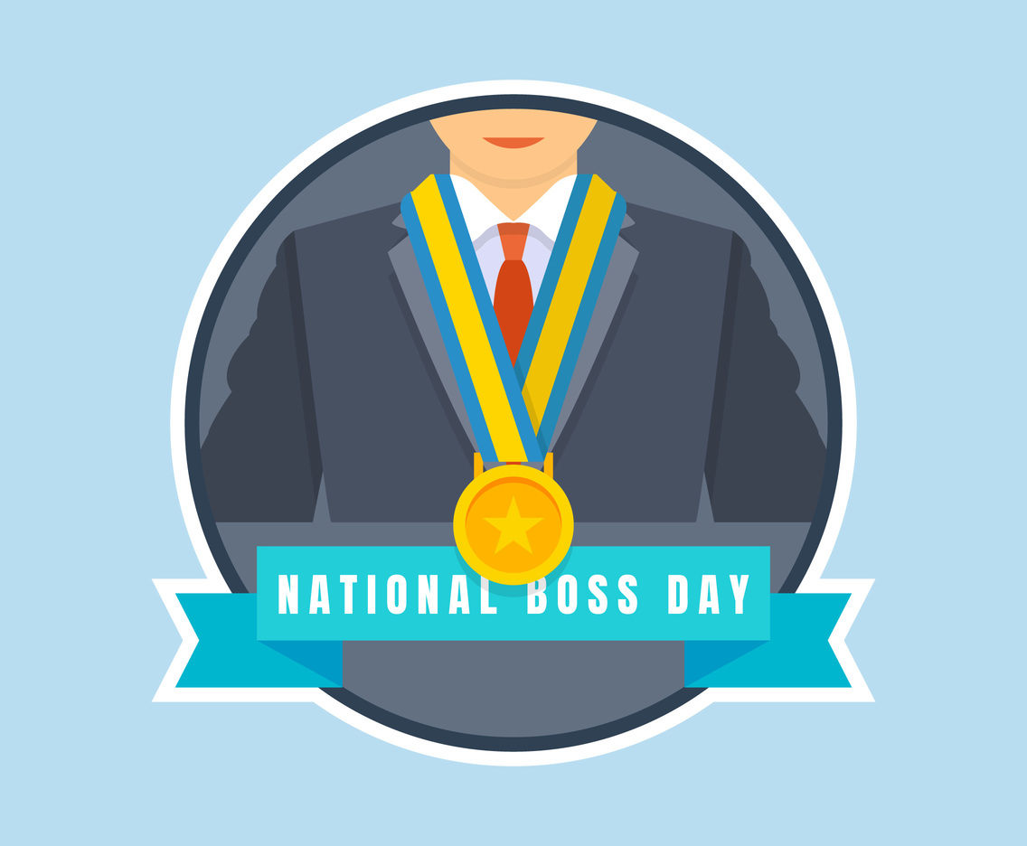 Unique National Boss Day Vectors