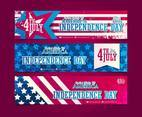 Independence Day America Vector Banners