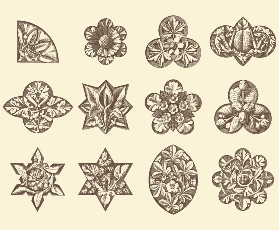 Sepia Floral Decorations