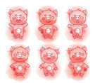 Hand Drawn Pig Collection Vector