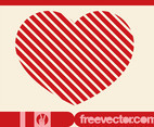 Striped Heart Vector