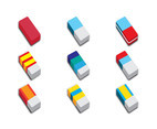 Vector Illustration of Erasers