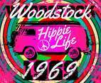 Woodstock Hippie Background Vector