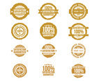 Satisfaction Gold Stamp Vector Set