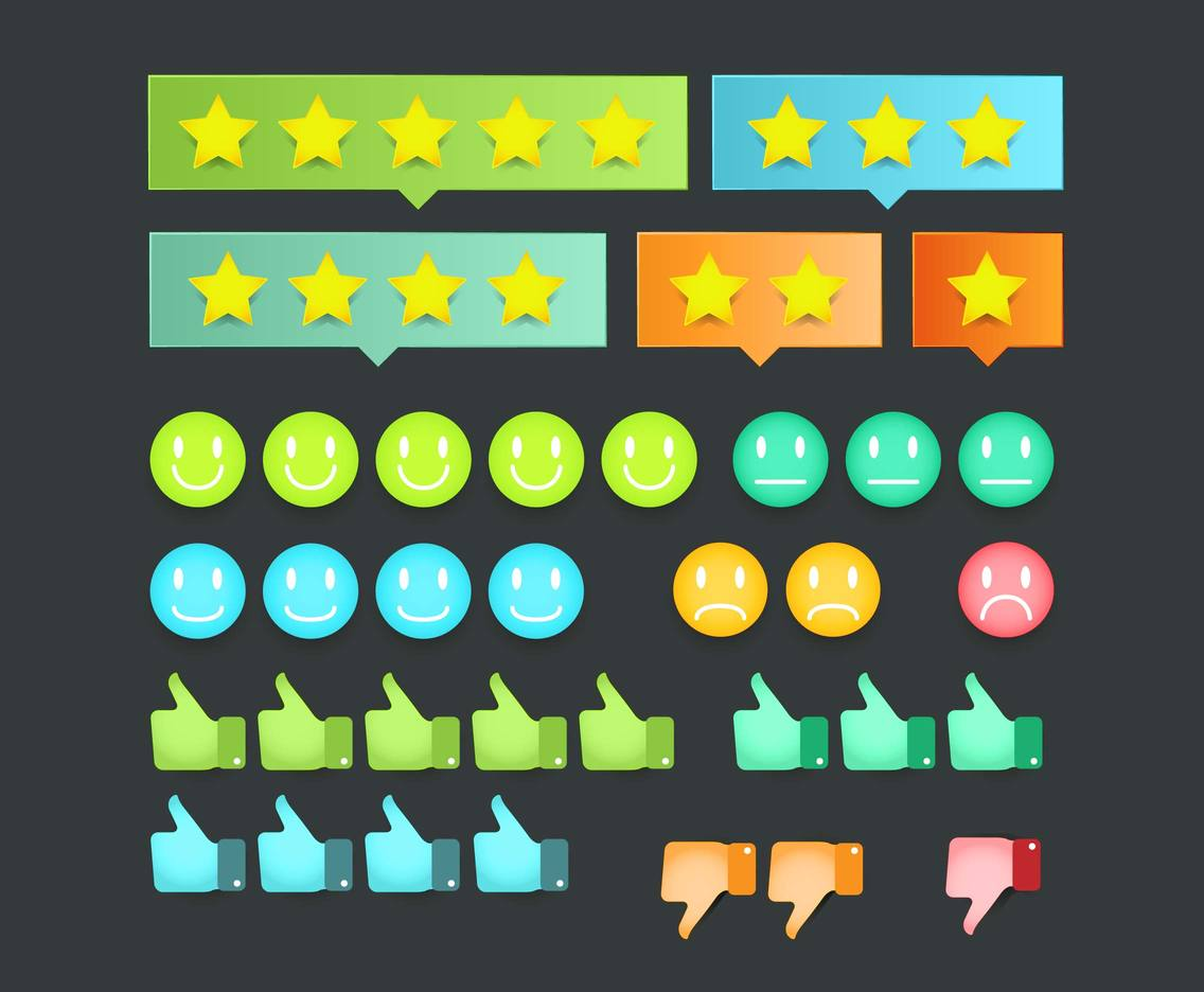 Satisfaction Icons Pack Vector