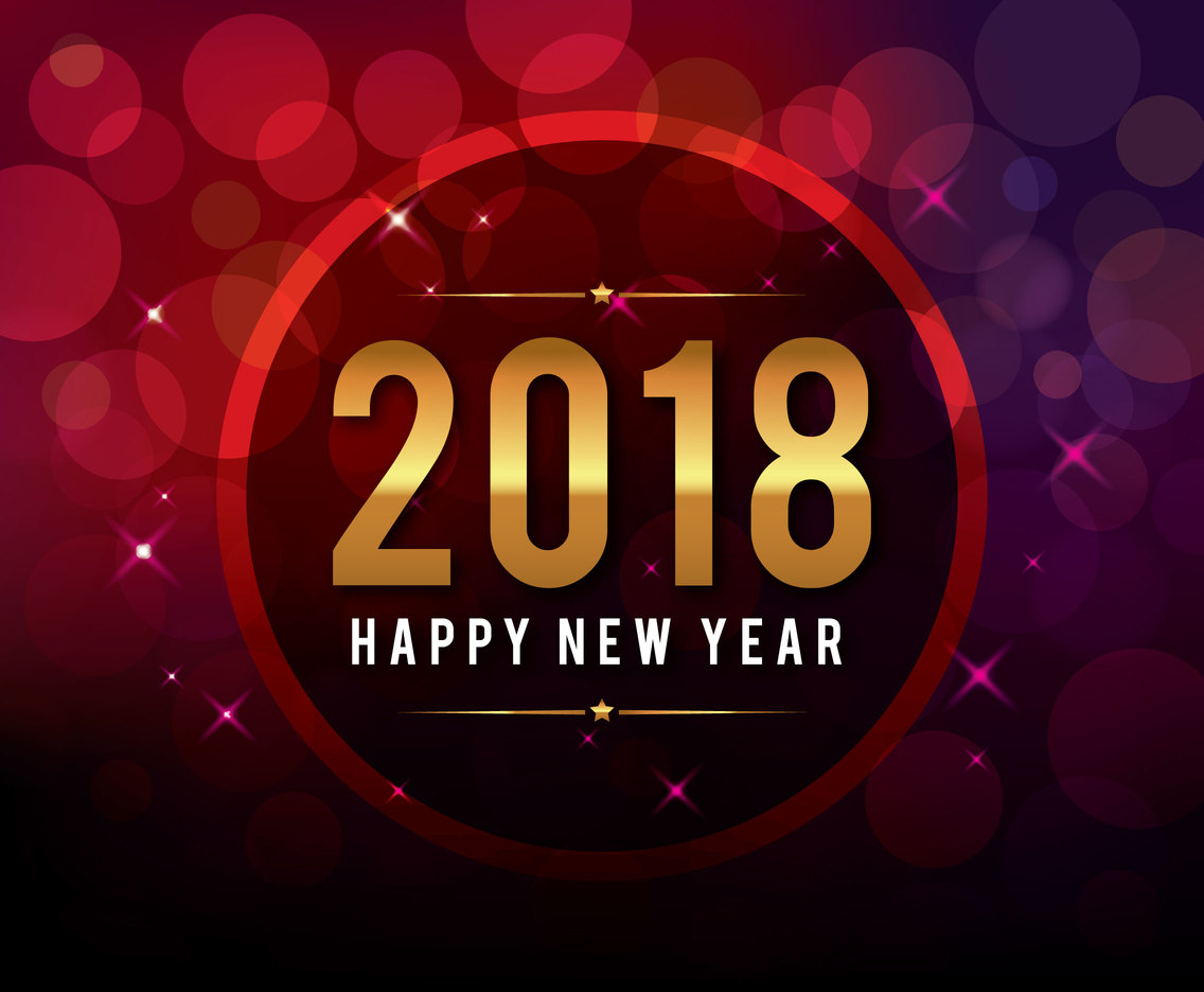 happy new year 2018 greeting vector art graphics freevectorcom