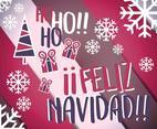 Feliz Navidad Merry Christmas Background Vector