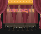 Burlesque Stage Vector