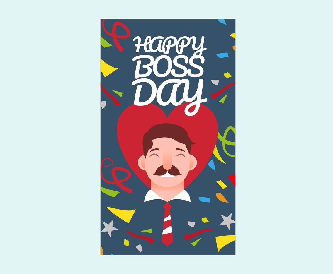 National Boss Day Card Vector