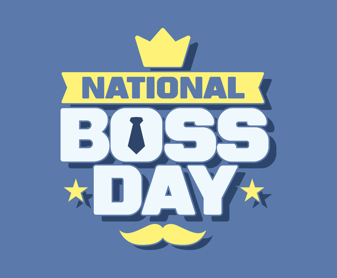 National Boss Day Typography Vector