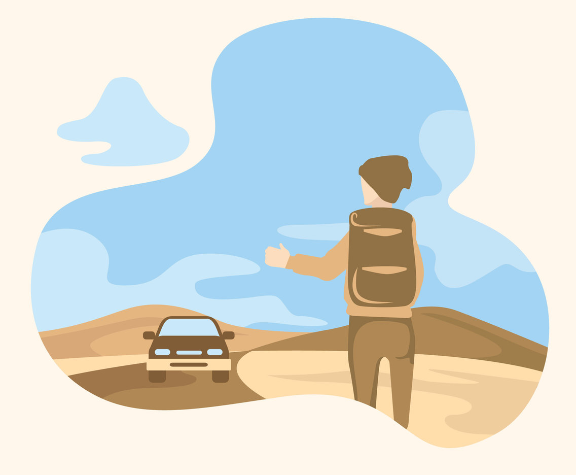 The Hitch Hiker Vector