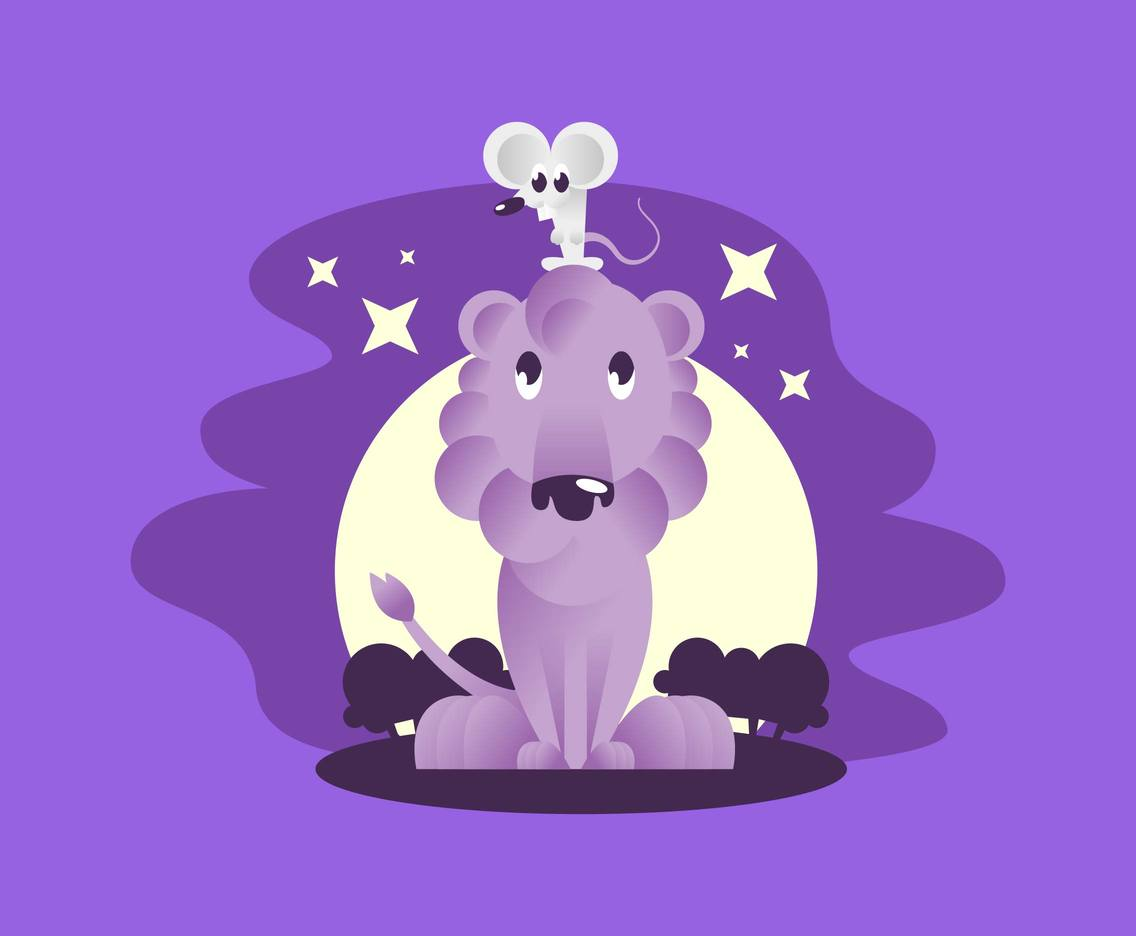 Unlikely Animal Pairs Illustration Vector #2