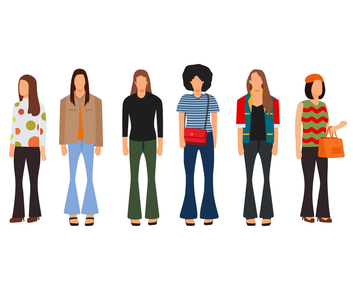 Hippie Fashion Style Vector