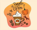 Fun Pumpkin Spice Vector