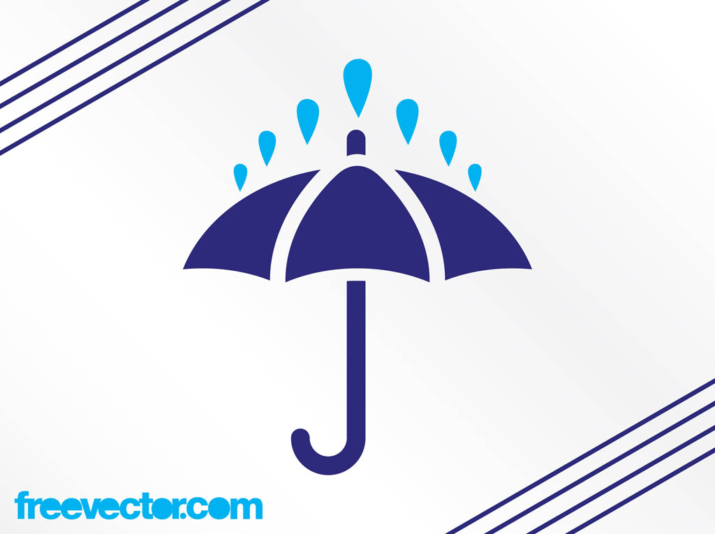 Rain And Umbrella Icon