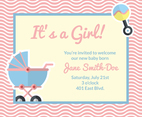 Cute Birth Announcement Card Vector