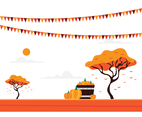 Fall Fest Illustration Background