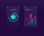 Mobile App Chart UI Template