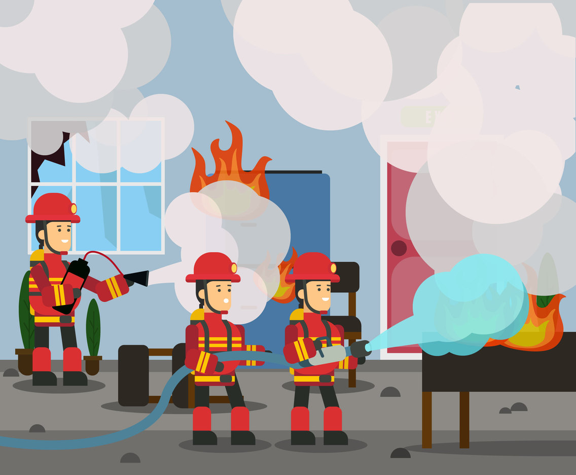 The Firefighters Vector