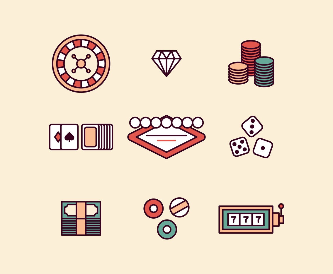 Las Vegas Outlined Icons