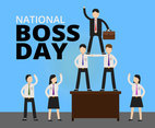 National Boss Day Illustration Vector