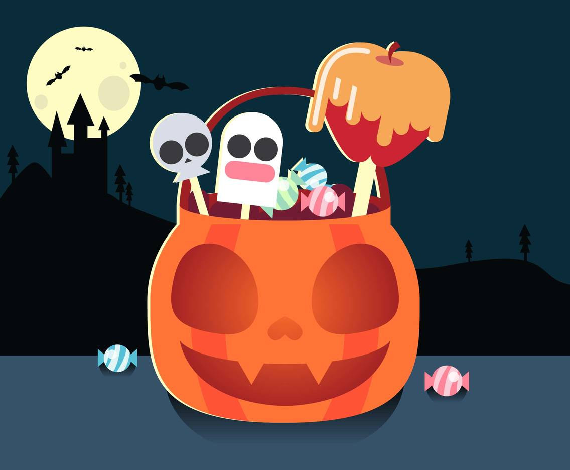 Halloween Candy Flat Illustration Vector