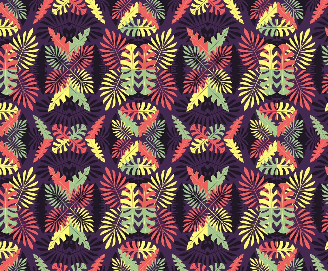 Banana Leaf Tropical Pattern Vector