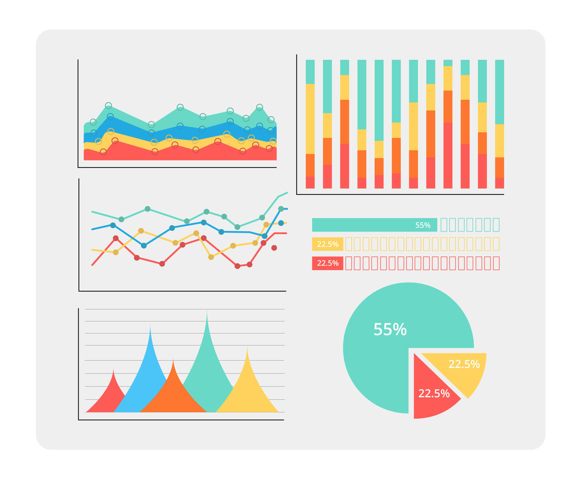 Colorful Chart Template Vector Vector Art & Graphics   freevector.com