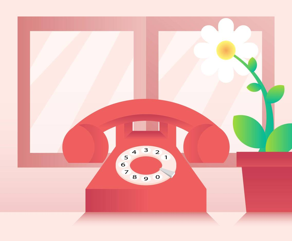 Rotary Telephone Illustration Vector
