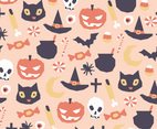 Geometric Halloween Pattern