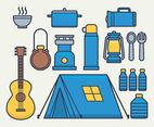 Camping supplies knolling