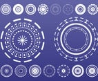 Abstract Circles Set